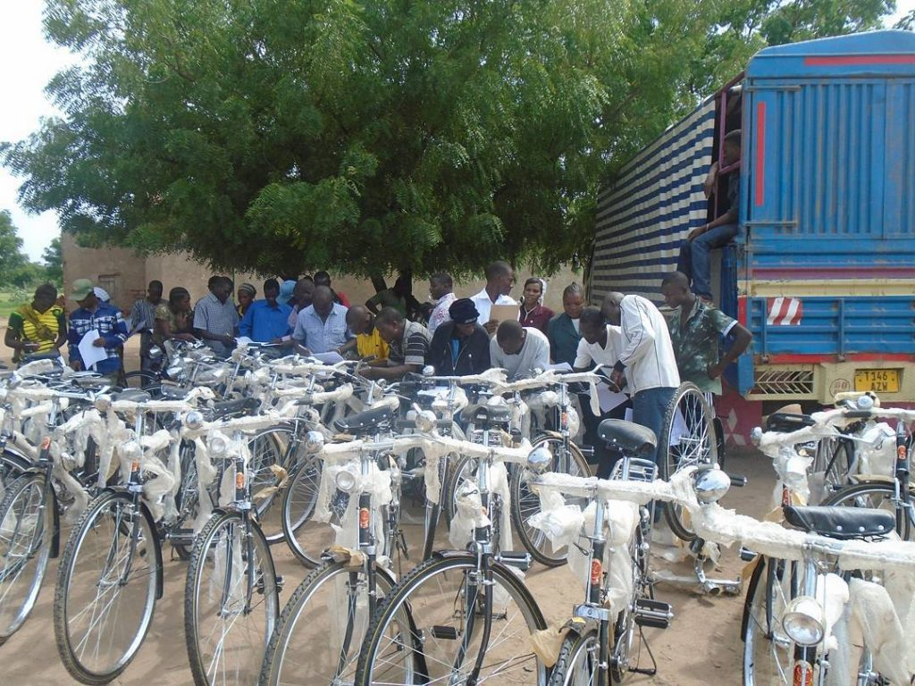Distribution of Bicycle to Volunteers