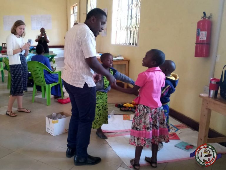 Playing with 4-6 children during Curriculum Training